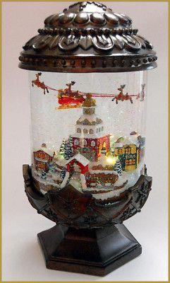 Antique Snow Globe Christmas
