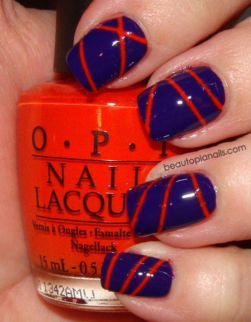 Love The Color Combo And The Design Pedicure Designs Toenails Nail Polish Nails