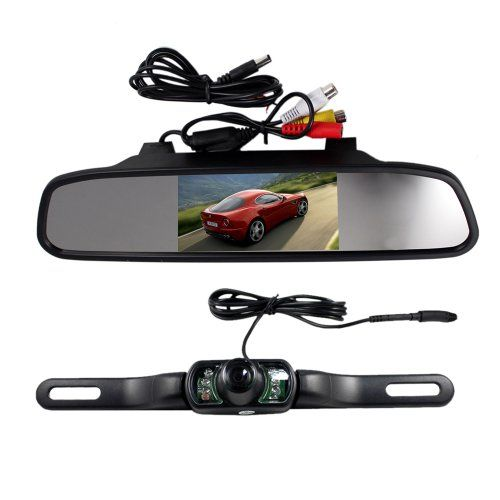 4 3 Inch Tft Lcd Rearview Mirror Monitor And Wireless