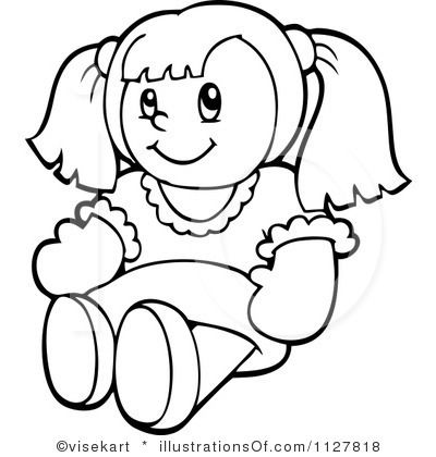 doll clip art royalty free rf doll clipart illustration by rh pinterest com doll clipart png doll clipart black and white