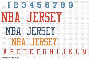 Nba Jersey Font Jersey Font Nba Jersey Old School Fonts