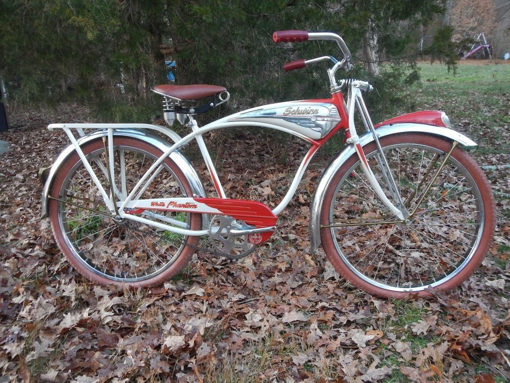 Schwinn White Phantom B6 Schwinn Phantom Old Bicycles