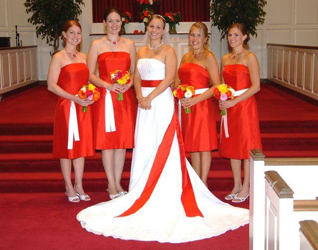 pink and orange bridesmaid dresses orange wedding theme orange wedding gown trending fashion