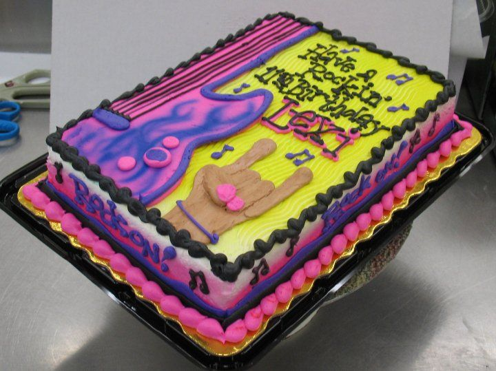 Birthday Sheet Cake by Stephanie Dillon LS1 HyVee Bakery