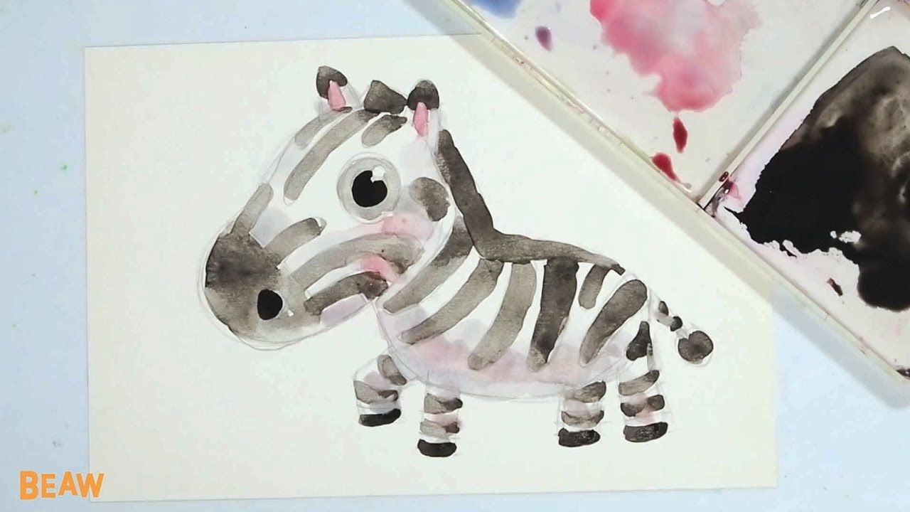 How to draw a cute zebra coloring pages for kids learn drawing