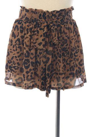 Leopard Shorts. $45