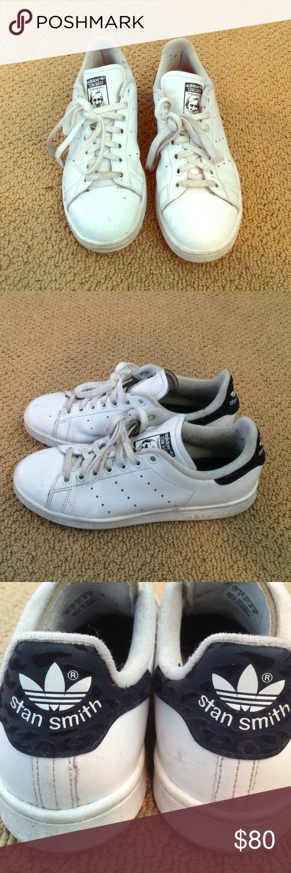 Adidas shoes White adidas Stan smith shoes, with felt