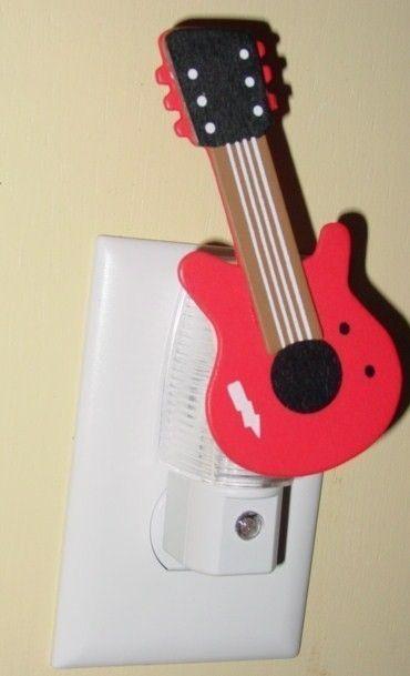 Guitar night light Rock N Roll Light custom by kryshasCreations, $11.99