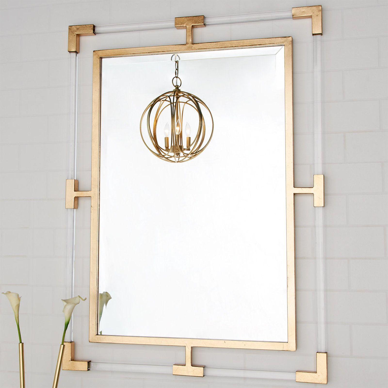 Acrylic Gold Leaf Mirror Gold Framed Mirror Gold Mirror Bathroom Mirror Wall