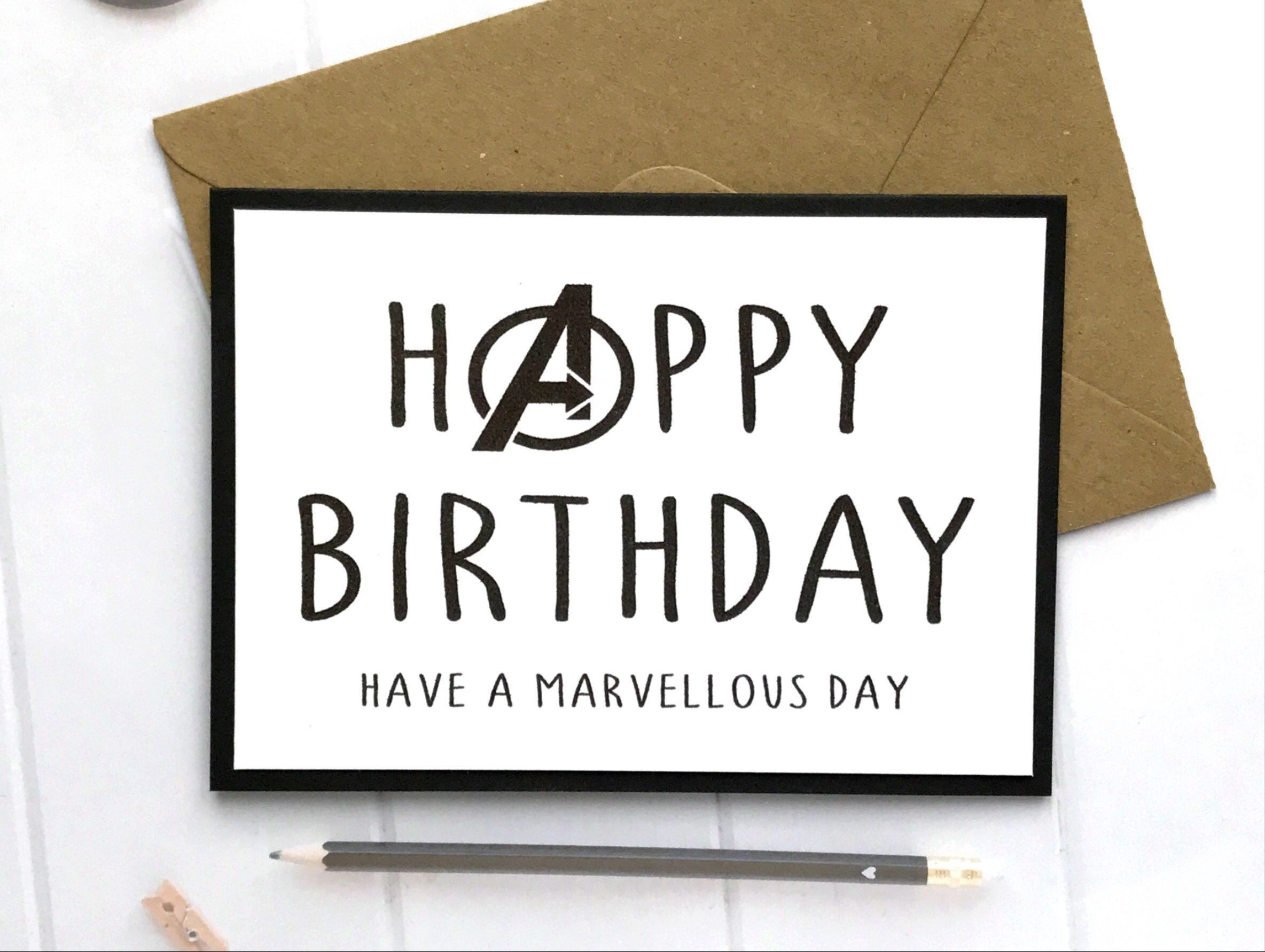 A Personal Favourite From My Etsy Shop Https Www Etsy Com Uk Listing 607805690 Marvel Card Marvel Marvel Gifts Harry Potter Birthday Cards Birthday Cards Diy
