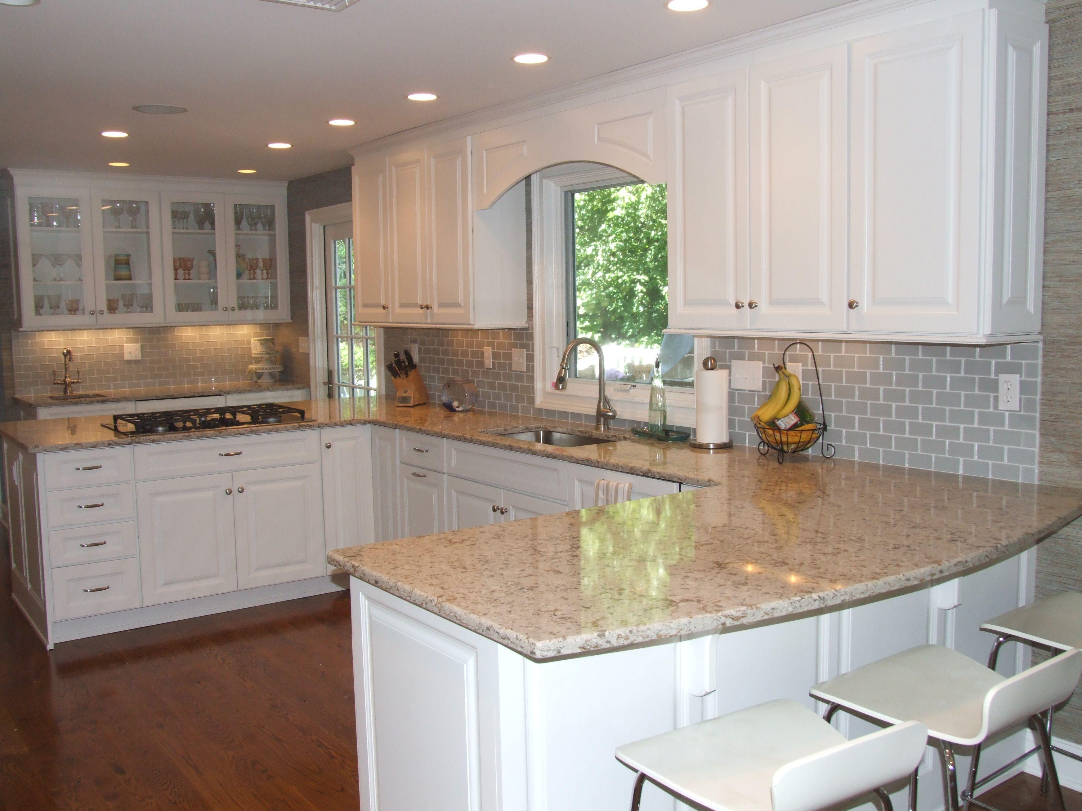 Grey Glass Subway Tile Backsplash Modern Stools Kellydesigns