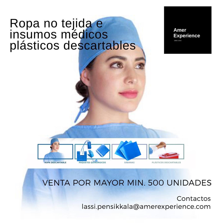 ️Ropa no tejida e insumos médicos plásticos descartables
