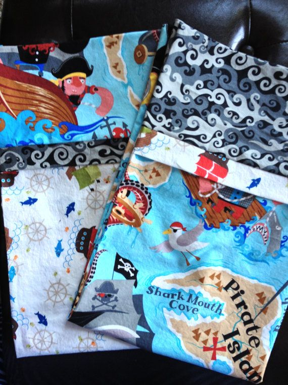 Pirate pillowcases by SissysCreationsSL on Etsy, $34.00
