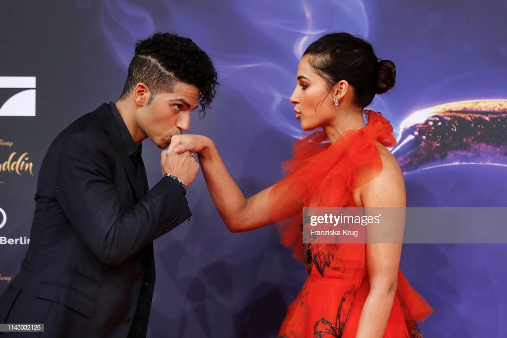 Mena Massoud And Naomi Scott Attend The Movie Premiere Of Aladdin