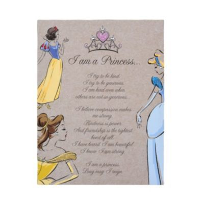 I Am A Disney Princess Glitter Canvas Art Print Kirklands Princess Wall Art Princess Canvas Wall Canvas