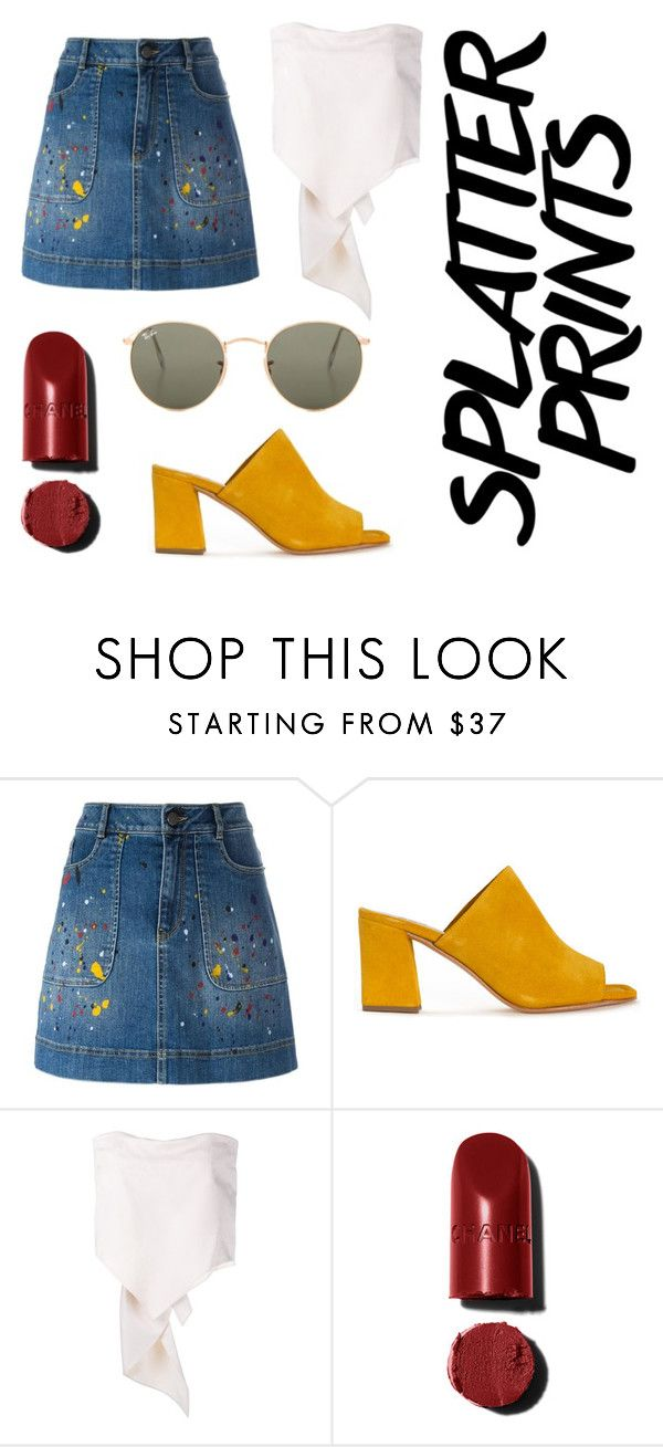 """Spring splatter"" by faithisabelle ❤ liked on Polyvore featuring Alice + Olivia, Maryam Nassir Zadeh, Rosie Assoulin and Ray-Ban"