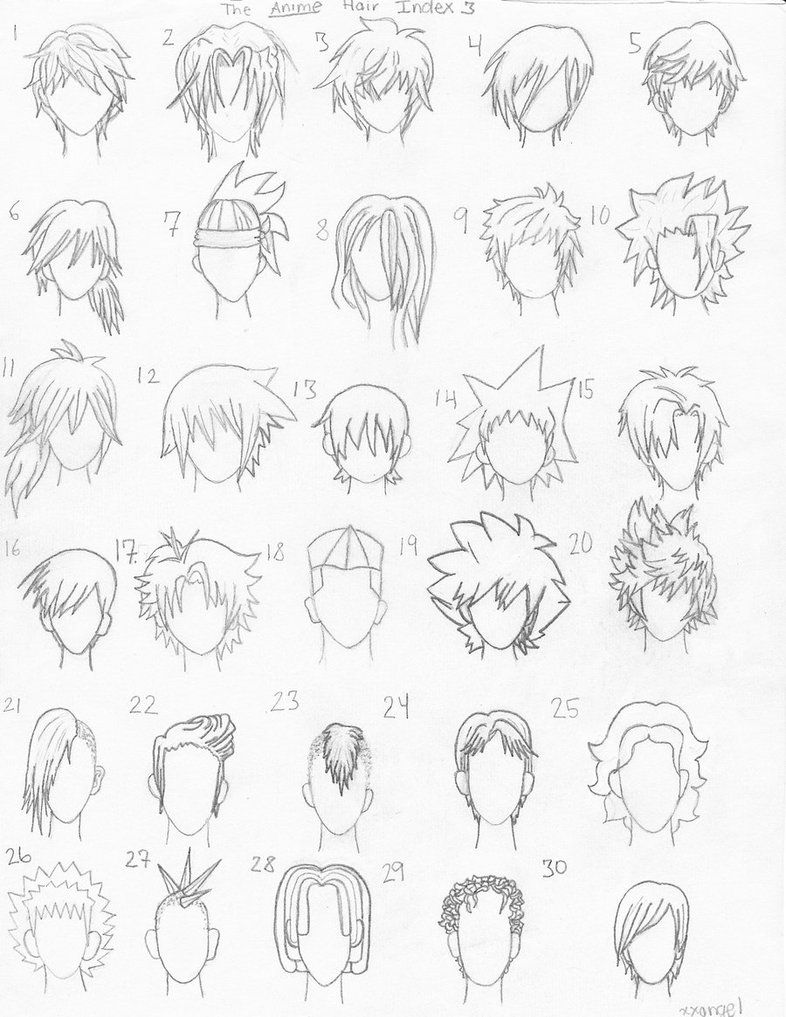 The Anime Hair Index 3 by xxangelsilencex Anime hair