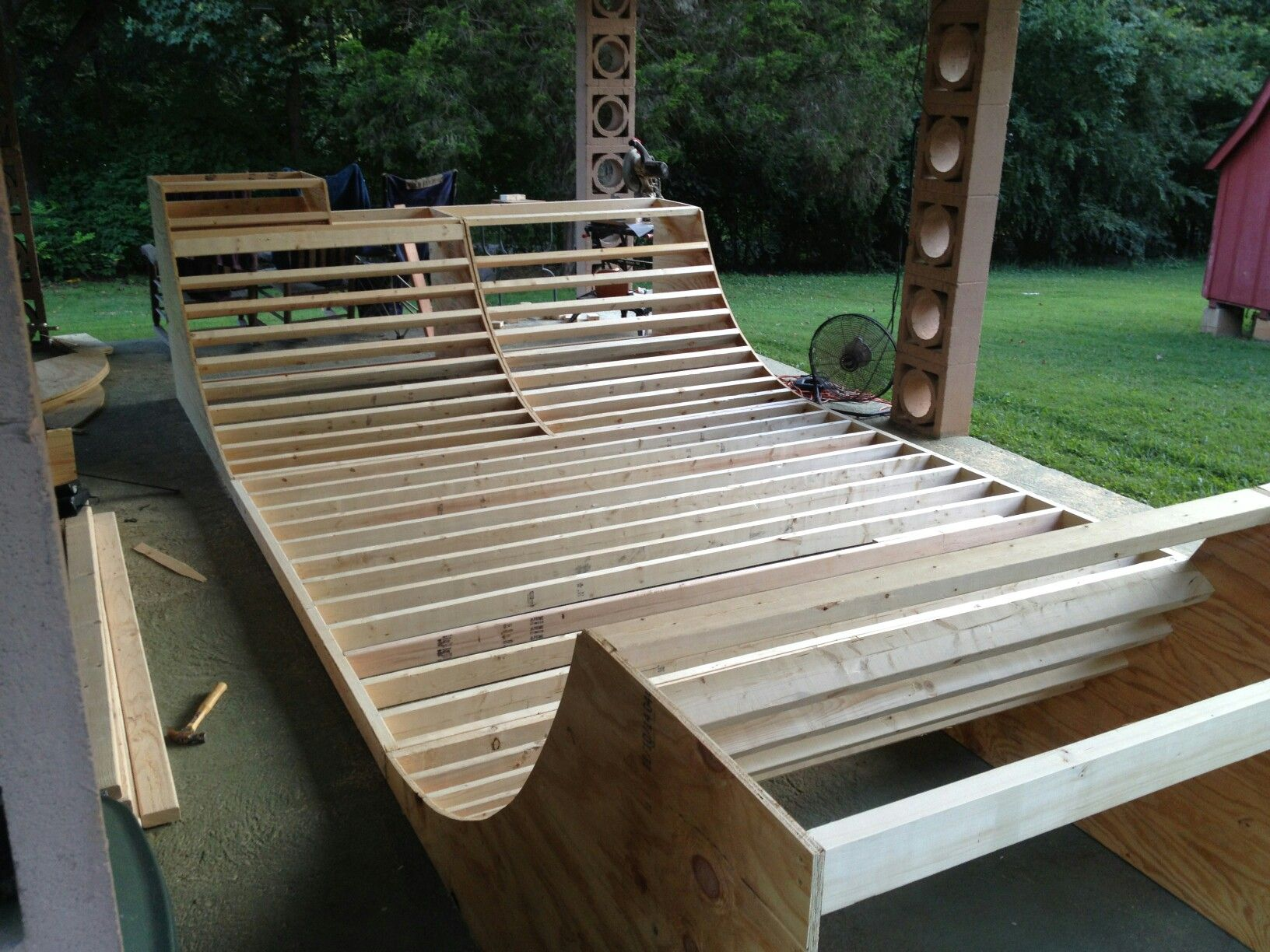 man i really want to build a mini ramp in my backyard consider it