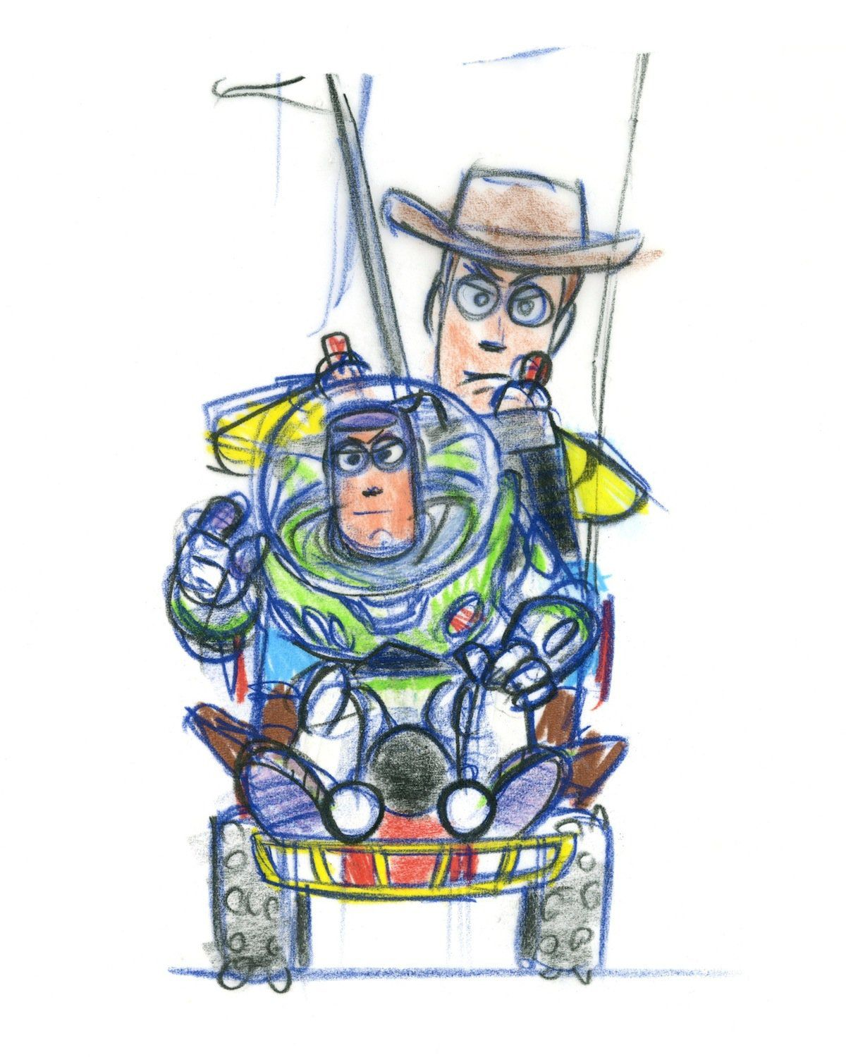 See Original Toy Story Concept Art For Buzz And Woody Toy Story Tattoo Pixar Concept Art Disney Drawings