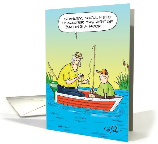 Master Baiter Fishing Adult Humor Birthday Card