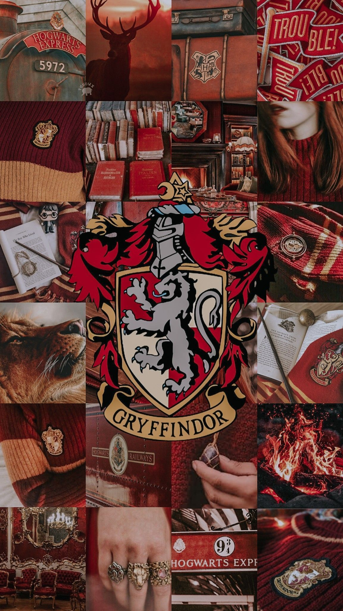 Collage Walls Collagewalls Aesthetic Collage Harry Potter Lockscreen Gryffindor Harry Potter Wallpaper Harry Potter Background Harry Potter Pictures