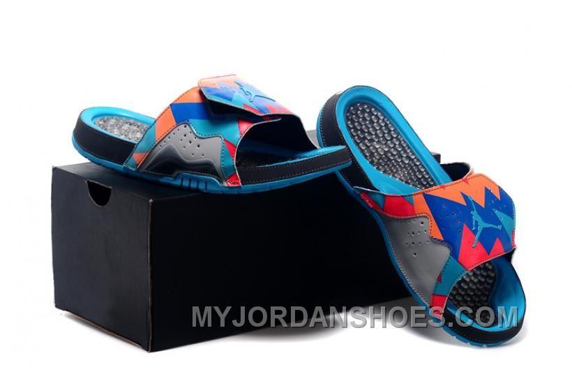 a37da6770c57 Jordan Hydro VII Retro 7 Hare Men Sliders Blue Grey 40-47 WHGbG ...