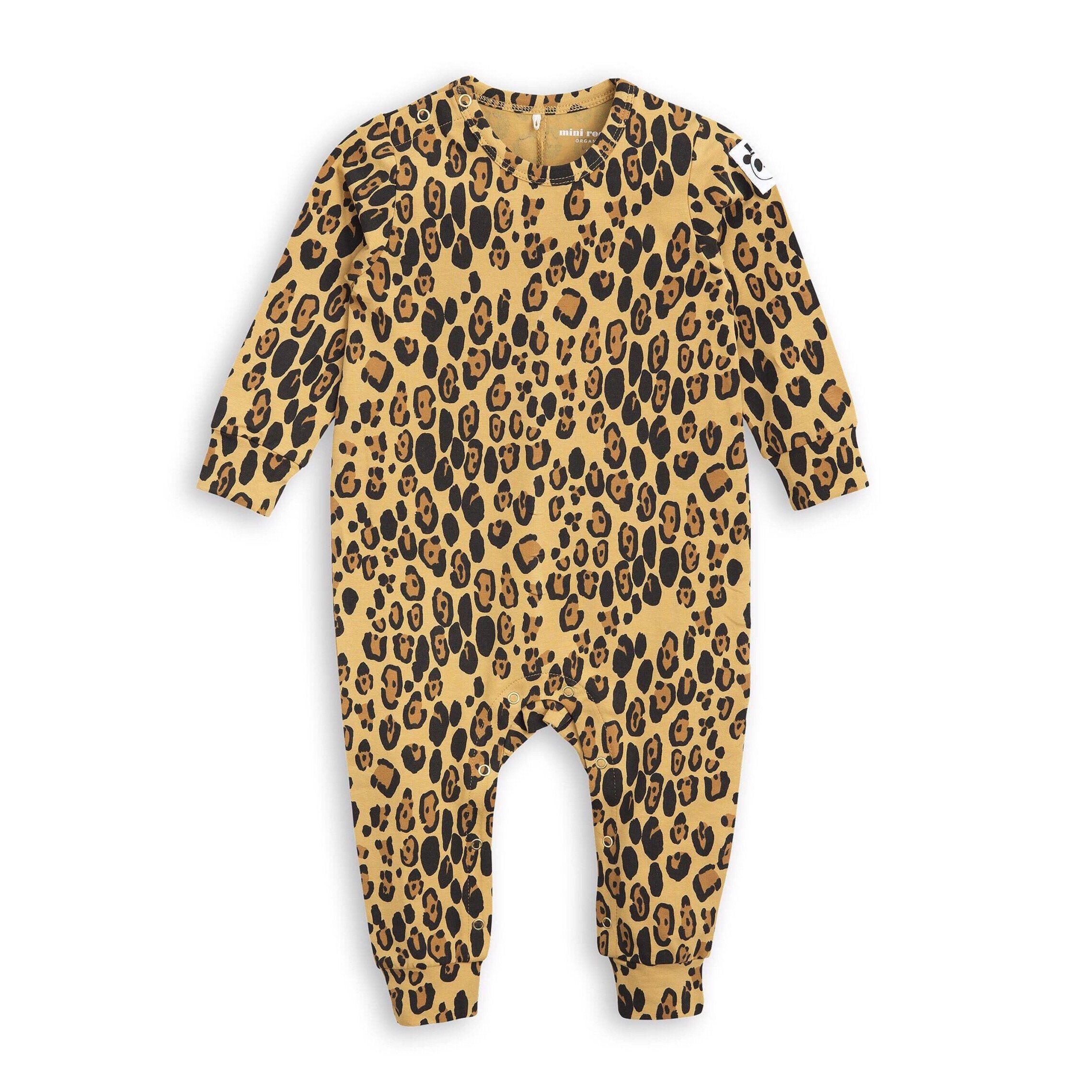 Mini Rodini Leopard baby onesie M I N I M E