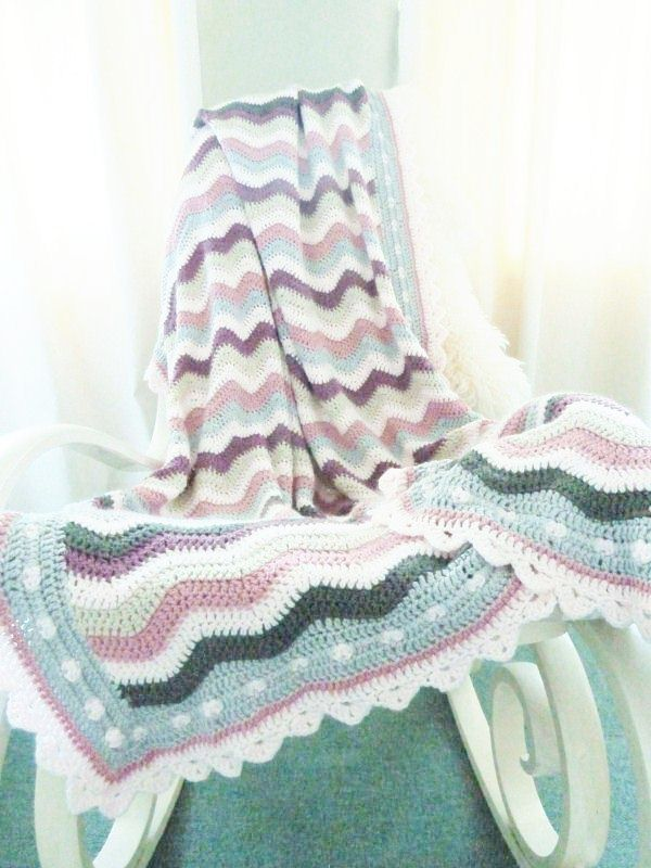 Rose Ripple Blanket by nainis. www.ravelry.com | Crafts I want to ...