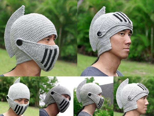 Knight Helmet Hat With Visor Crochet Pinterest Visors And Crochet