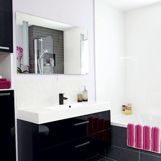 schwarz wei badezimmer wohnideen badezimmer living ideas bathroom bathroom pinterest. Black Bedroom Furniture Sets. Home Design Ideas