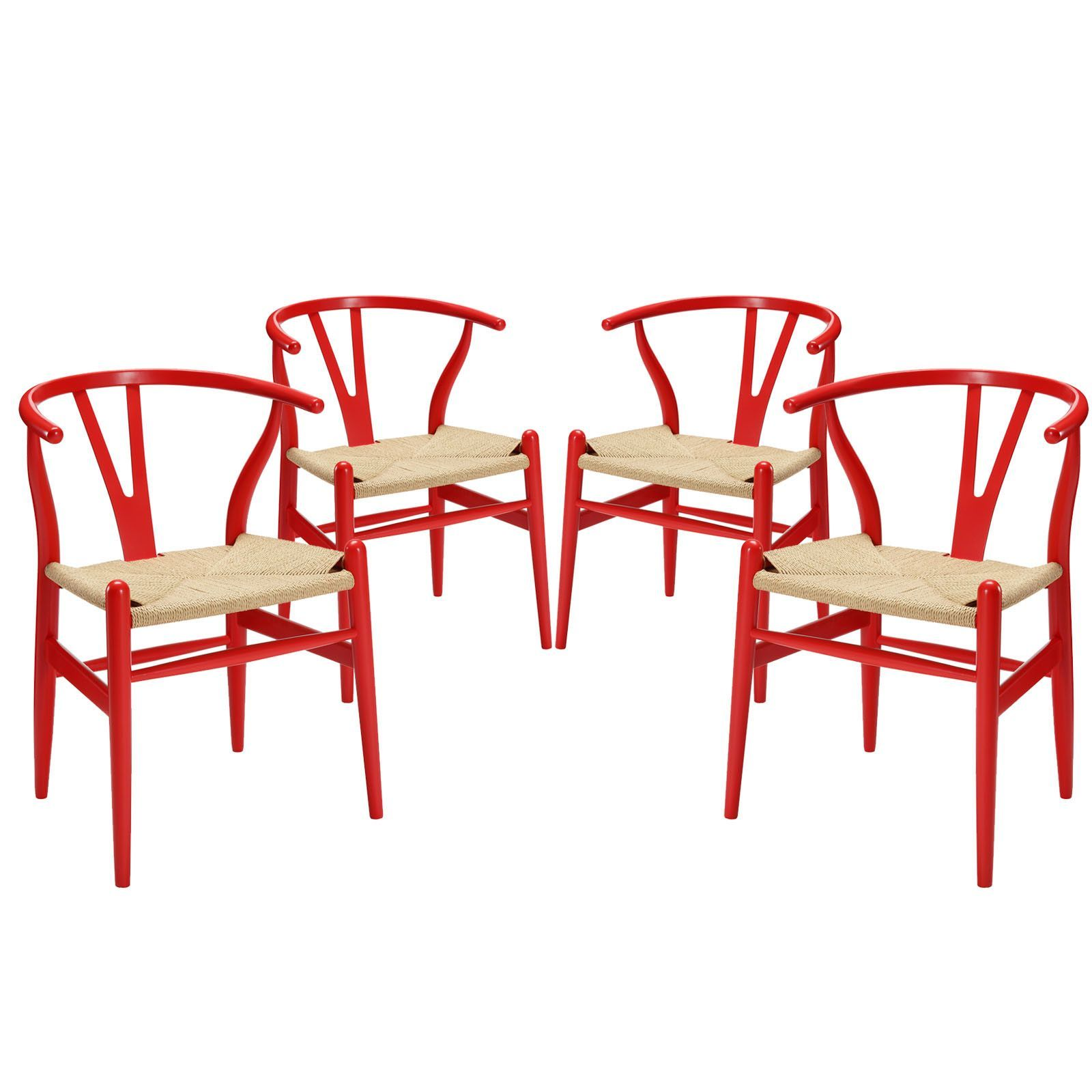Amish Dining Armchair Set of 4 Red