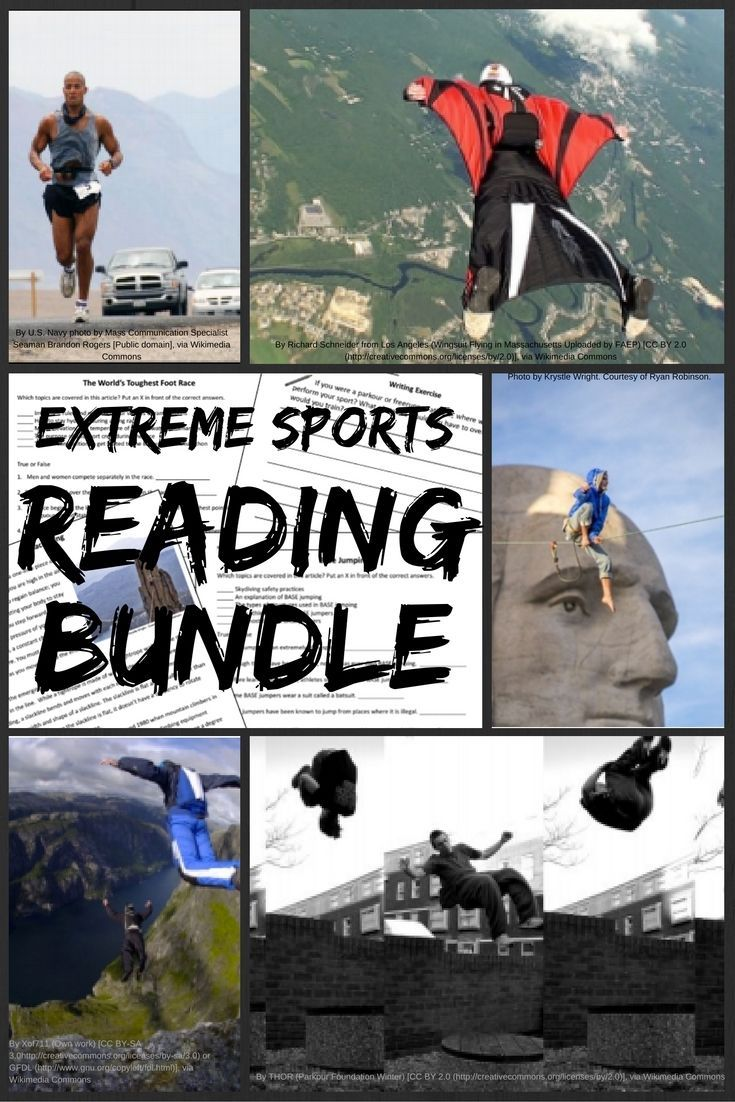 Extreme Sports Informational Reading Bundle Extreme