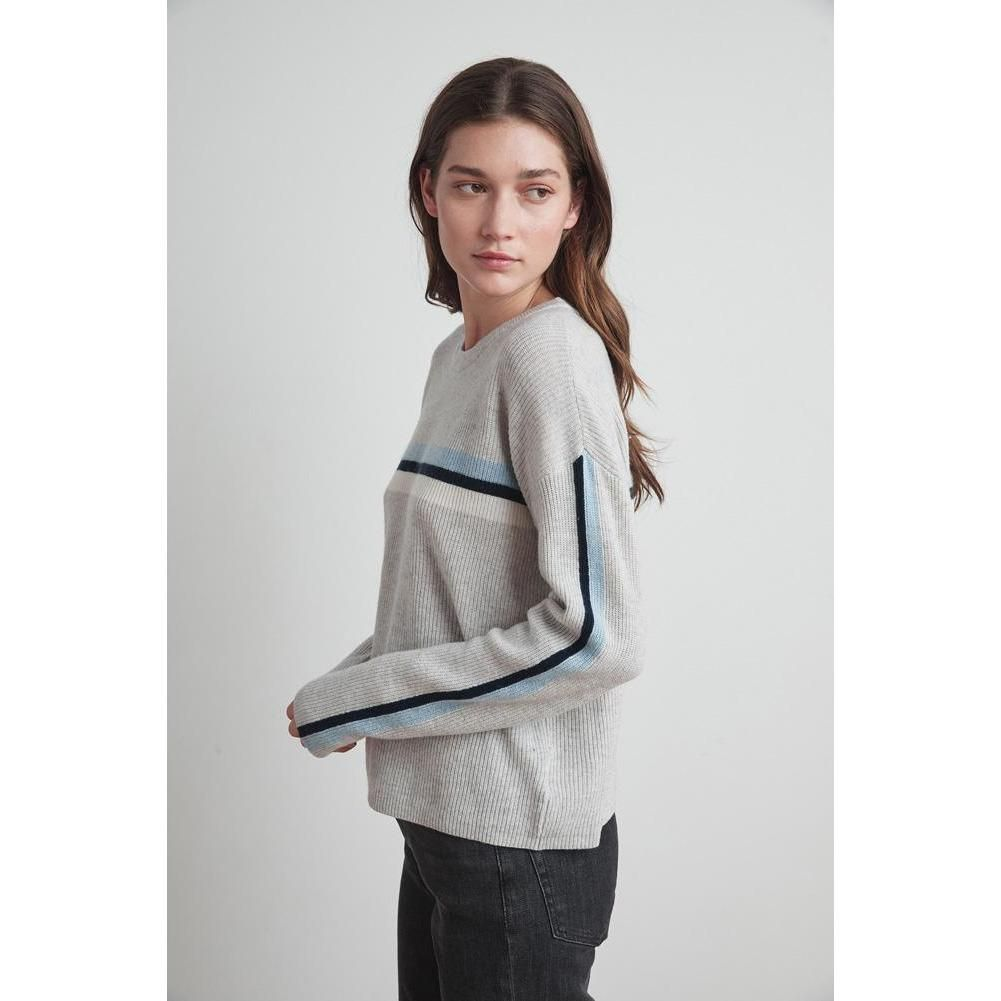 Velvet by Graham & Spencer Kyla Striped Wool + Cashmere