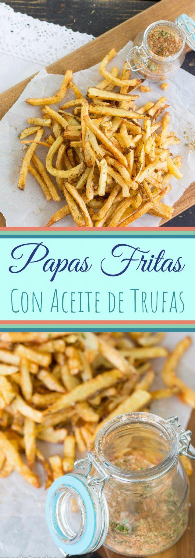 Papas Fritas con Aceite de Trufas y Especias