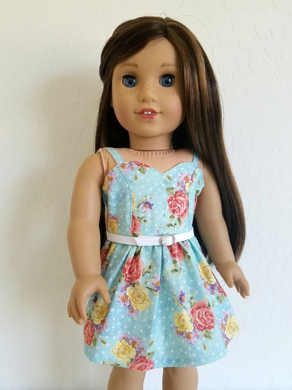5ff2f5ea14b4 American Girl Doll Clothes Vintage Rose Print Dress by BuzzinBea