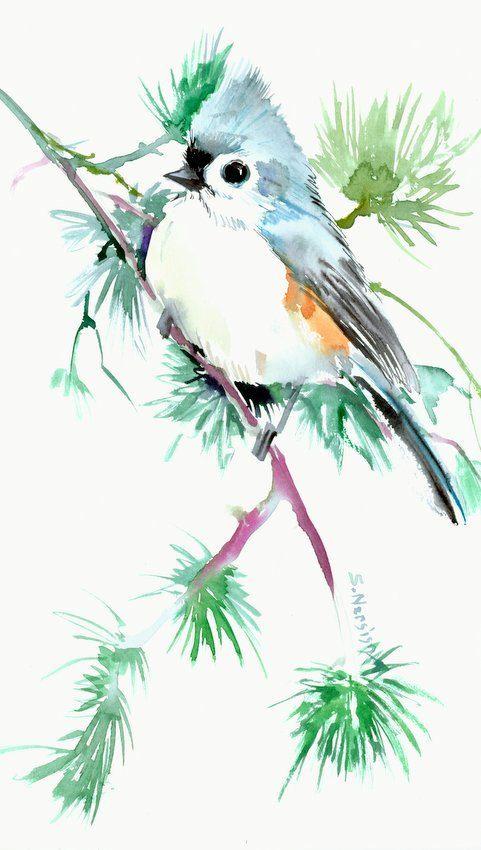 Aquarelle Abby Xieyi Sumie Peinture Asiatique Peinture Chinoise
