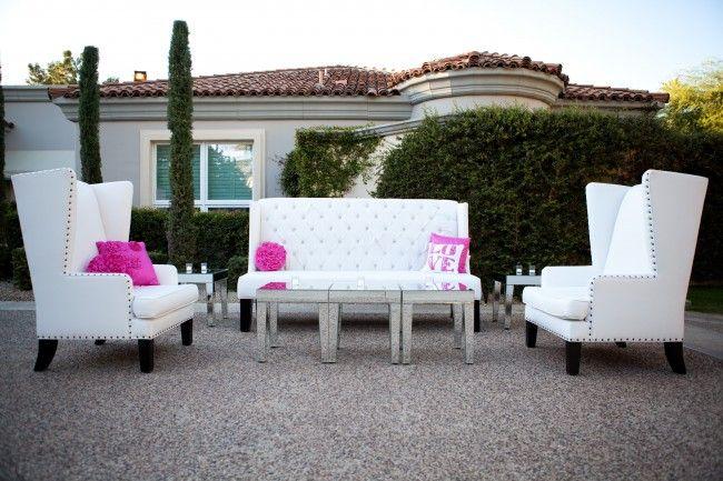 Arizona Biltmore Estates Wedding Lounge Furniture White After Party Tail Hour