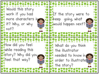 leveled reading task cards....different levels, different colors