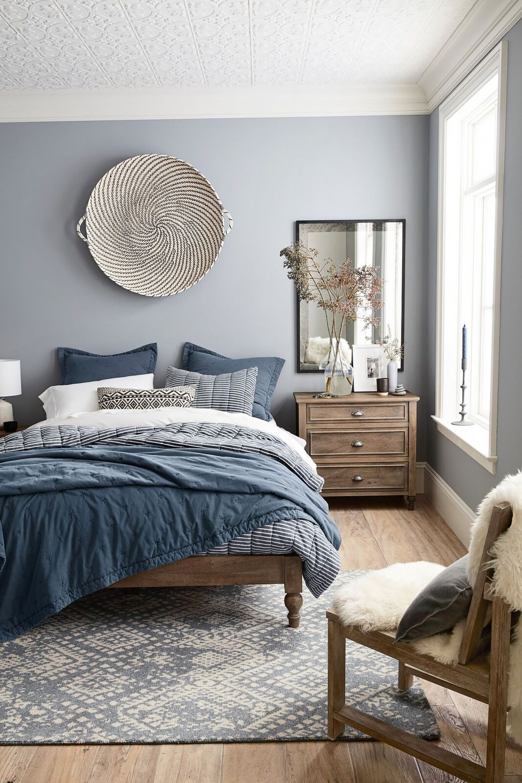 Decorating master bedroom walls - The One Thing A Designer Would Never Do In A Small Space Blue Master Bedroomguest