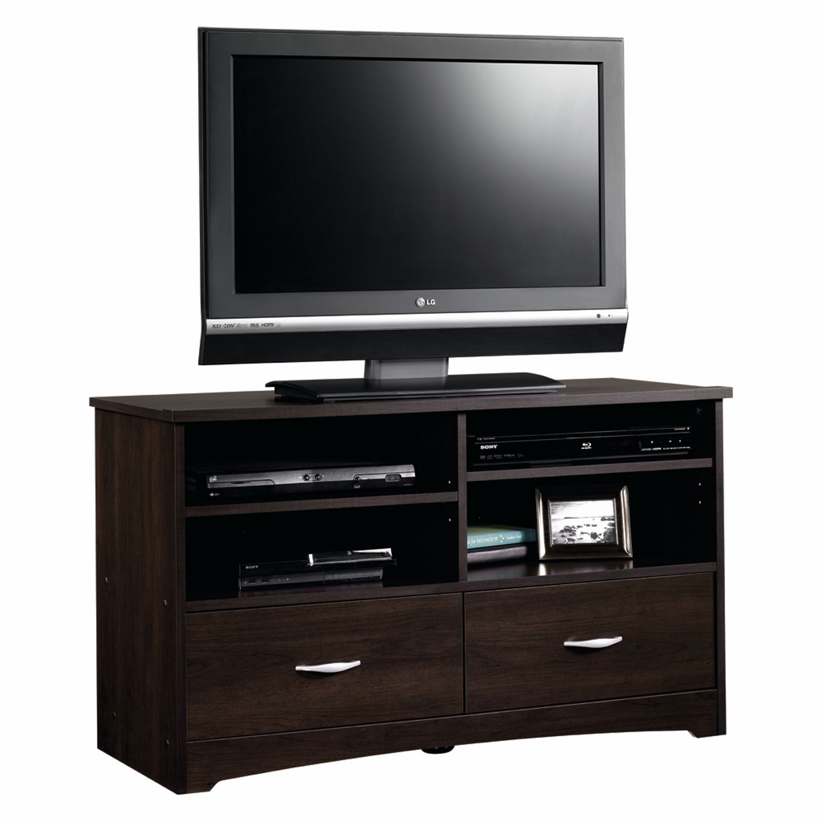 Cinnamon Cherry Tv Stand Holds Your Television Media Players And