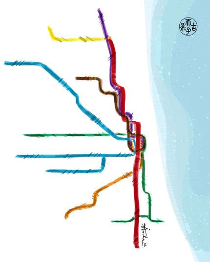 map of blue line chicago and surrounding cities