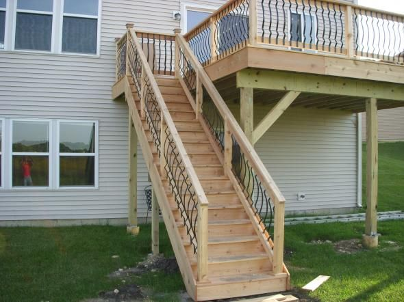 Kjb Builders Ltd Patio Deck Designs Back Porch Designs Porch | Outdoor Stair Contractors Near Me | Wood | Stair Railing | Metal | Trex | Spiral Staircase