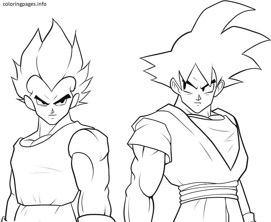 Black Goku Coloring Pages