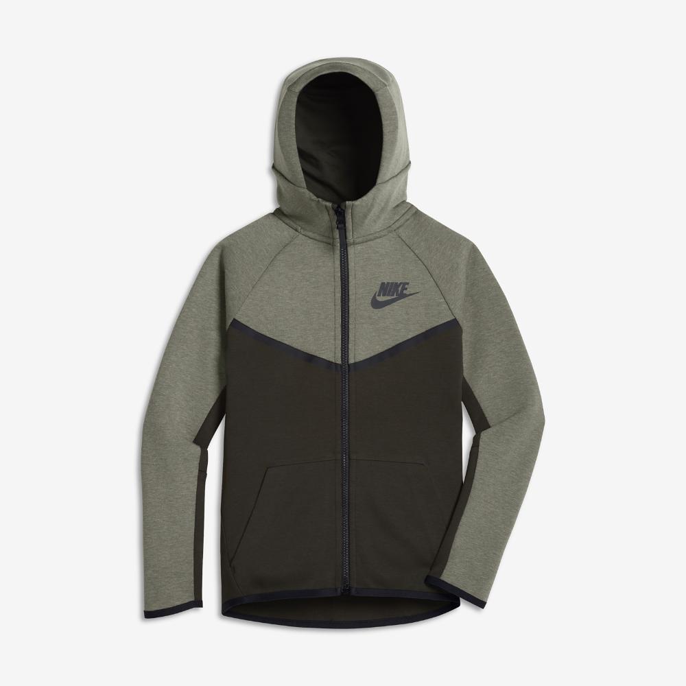 aa4286a66b02 Nike Sportswear Tech Fleece Windrunner Big Kids  (Boys ) Full Zip Hoodie  Size Medium (Grey)