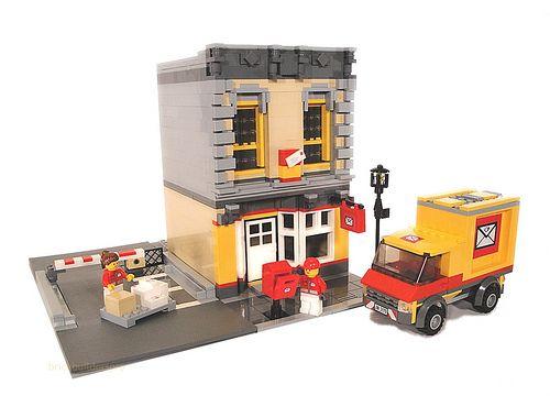 Lego City Classic Post Office by lgorlando, via Flickr
