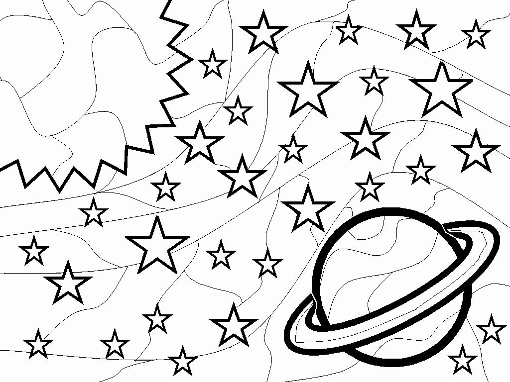 Printable Space Coloring Pages In