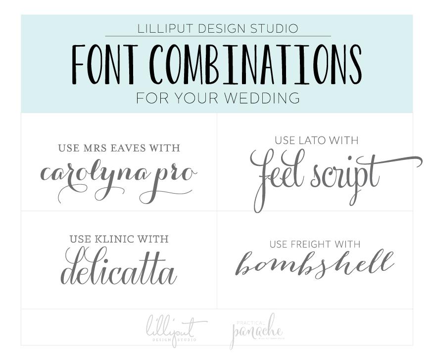 Popular Fonts For Wedding Invitations: Font Combinations, Wedding