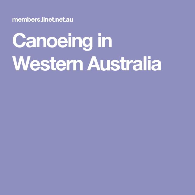 Canoeing in Western Australia