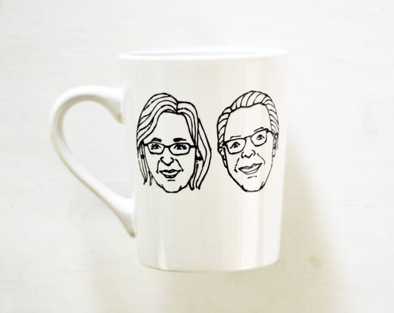 Custom mug for grandma, grandparents mug, grandparent gift, custom portrait mug, face mugs, coffee gift, custom caricature, anniversary gift #custommugs