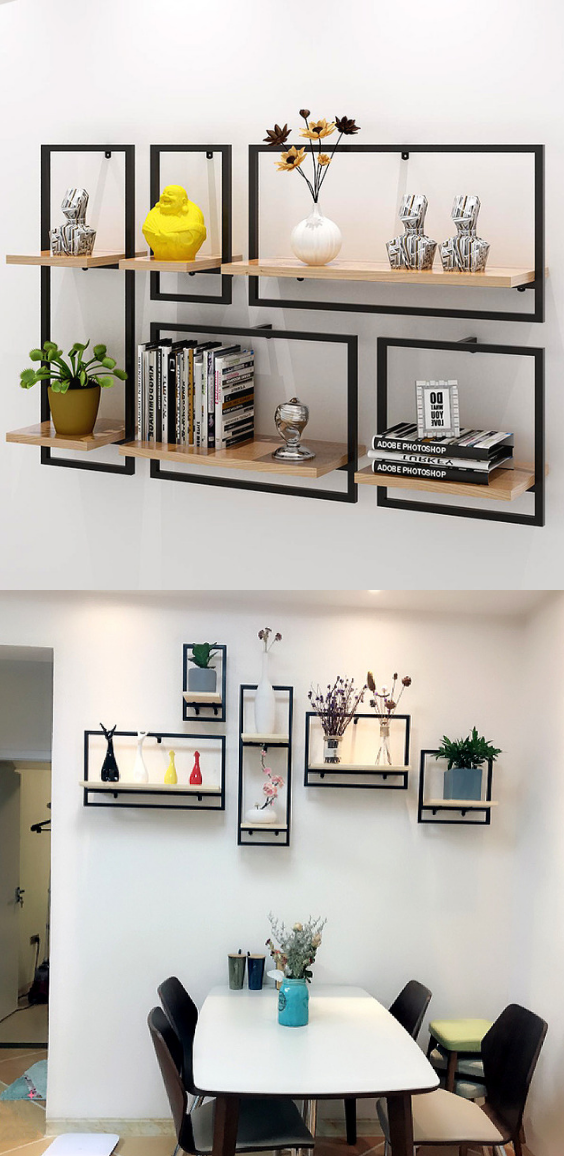 Wall Hanging For Storing Books Flowers Wall Shelf Display Wall Bookshelves Bookcase Wall #wall #mounted #shelves #for #living #room